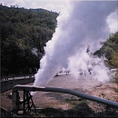 Larderello steam, Tuscany, Italy
