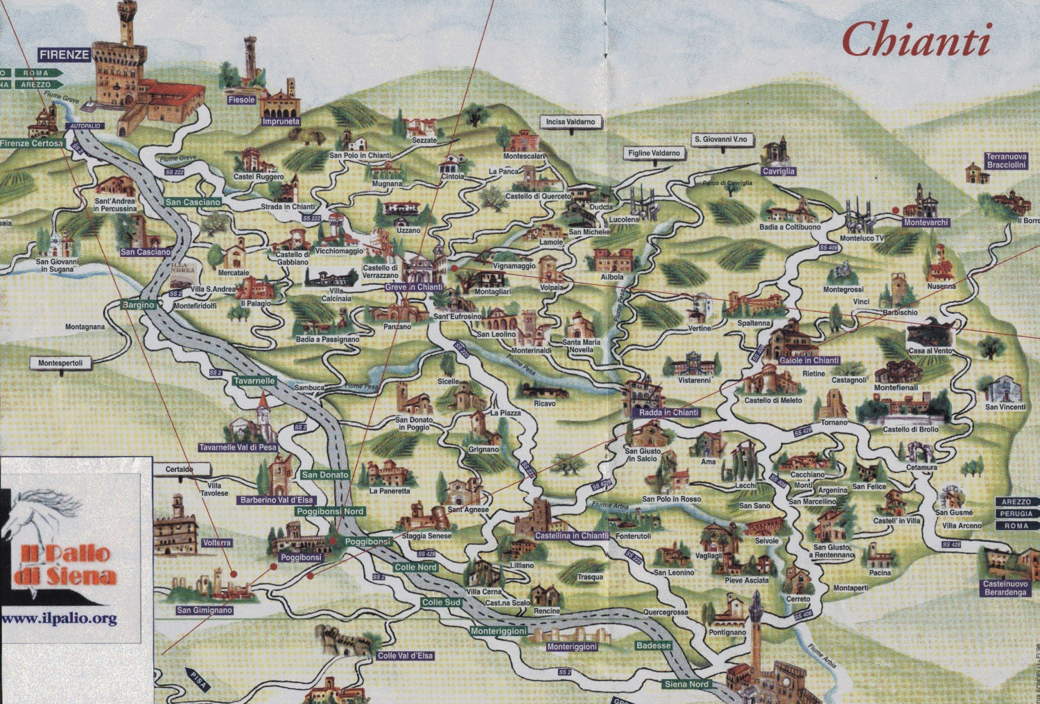 Chianti Region Italy Map.Easy Brief Chianti Travel Guide Chianti Tourist Information