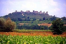 View of Monteriggioni, Tuscany, Italy